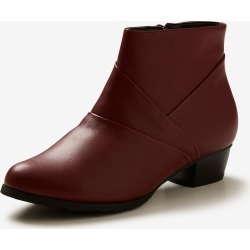 Riversoft Panneled Short Boot - Burgundy - 38 found on Bargain Bro from Noni B Limited for USD $11.71