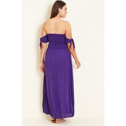 Crossroads Shirred Maxi Dress - Violet - 22 found on Bargain Bro India from BE ME for $20.41