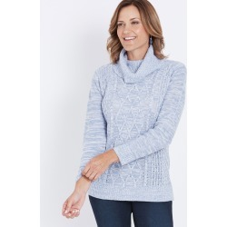 Millers Cable Cowl Jumper - Purple found on Bargain Bro Philippines from crossroads for $14.34