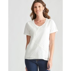 W.lane Lace Panel Tee - White - XS found on Bargain Bro Philippines from crossroads for $19.65