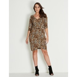 Crossroads Knit Buckl Wrap Dres - Print Animal - 22 found on Bargain Bro from W Lane for USD $15.91