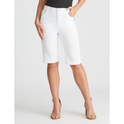 Rockmans Knee Length Solid Colour Short - White - 8 found on Bargain Bro India from W Lane for $15.55