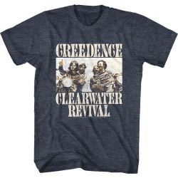 Creedence Clearwater Revival Bikes Photo Adult Short Sleeve T-shirt - Navy Heather - L found on Bargain Bro India from BE ME for $25.55