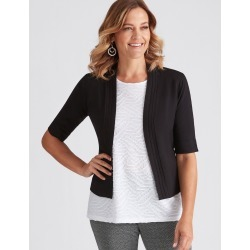 Millers Elbow Sleeve Crop Cardigan - Black - S found on Bargain Bro India from W Lane for $7.78
