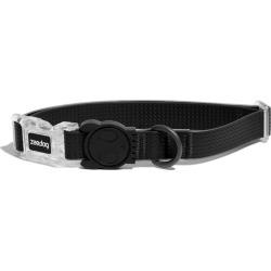 Zee Dog Neopro Adjustable Soft Dog Collar Black Small