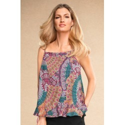 Grace Hill Ruffle Cami - Mosaic Print - 8 found on Bargain Bro from crossroads for USD $7.73