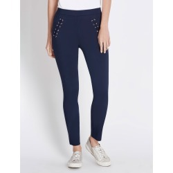 Rockmans Full Length Lattice Trim Pant - Midnight - 20 found on Bargain Bro India from Rockmans for $14.48