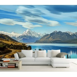 Aj Wallpaper 3d Highway Snow Mountain 1065 Wall Murals Removable Wallpaper Woven Paper - Multi - XXL found on Bargain Bro from Rockmans for USD $253.30