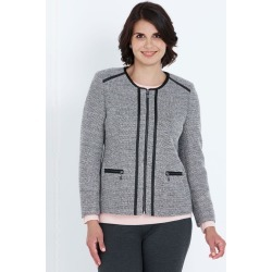 Noni B L/s Boucle Zip Thru Jacket - Black - 16 found on Bargain Bro from W Lane for USD $12.96