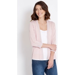 Rockmans 3/4 Sleeve Lightweight Lace Cuff Cardi - Tutu Pink - L found on Bargain Bro Philippines from Rockmans for $10.27