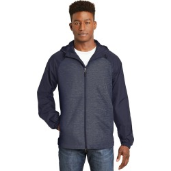 Sport-tek Heather Colorblock Raglan Hooded Wind Jacket - True Navy Heather/ True Navy - True Navy Heather/ True Navy - 2XL found on Bargain Bro India from Rockmans for $46.14
