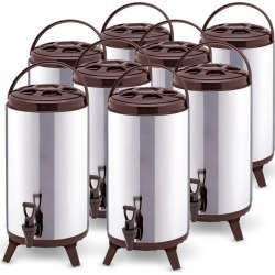 Soga 18l Portable Insulated Brew Pot With Dispenser 8pack - Stainless Steel - ONE