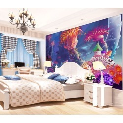 Aj Wallpaper 3d Monster Resting 1073 Wall Murals Removable Wallpaper Woven Paper - Multi - XXXXL found on Bargain Bro from Rockmans for USD $253.30