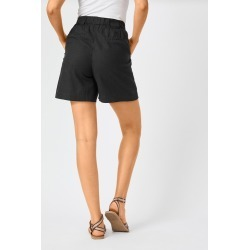 Capture Linen Blend Classic Short - Black - 10 found on Bargain Bro India from Rockmans for $20.83