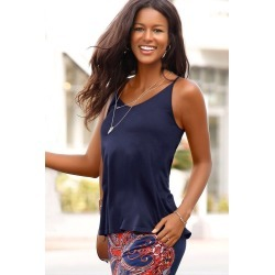 Urban Strappy Back Tank - Navy - 16 found on Bargain Bro from BE ME for USD $6.45