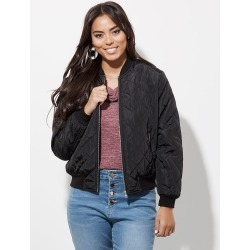 Crossroads Long Sleeve Bomber Jacket - Black - 16 found on Bargain Bro India from Rockmans for $17.38