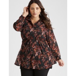 Beme Long Sleeve Hi Low Printed Top - Floral - 16 found on Bargain Bro Philippines from BE ME for $30.65