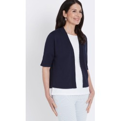 Millers Elbow Sleeve Crop Cardigan - Navy - S found on Bargain Bro India from Rockmans for $15.51