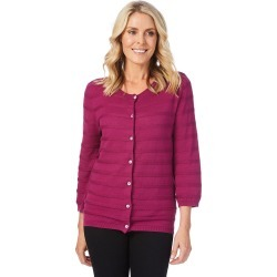 W.lane Stripe Texture Cardigan - Purple - XS found on Bargain Bro from Noni B Limited for USD $14.73