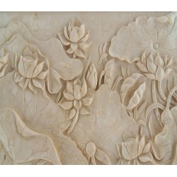 Aj Wallpaper 3d Flower Louts 202 Wall Murals Removable Wallpaper Self-adhesive Vinyl - Multi - XXXXL found on Bargain Bro Philippines from Noni B Limited for $385.05