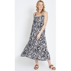 Rivers Sleeveless Button Shoulder Maxi Dress - Zebra - 16 found on Bargain Bro from Noni B Limited for USD $20.28