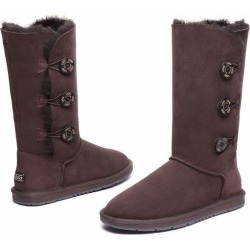 Ugg Boots Classic Tall In 3 Button - Chocolate - AU W11/ M9 found on Bargain Bro from Noni B Limited for USD $115.06