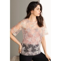 Grace Hill Embroidered Shell Top - Blush - 8 found on Bargain Bro from Rivers for USD $29.38