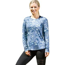 Lasculpte Women's Printed Long Sleeve Tee Top - Blue Floral Print - 14 found on Bargain Bro from Noni B Limited for USD $27.00