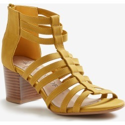 Riversoft Block Heel Zip Sandal - Yellow - 37 found on Bargain Bro from Noni B Limited for USD $8.81