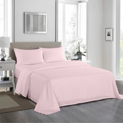 Royal Comfort 1200tc Ultra Soft 4-piece Sheet Set - Soft Pink - Double found on Bargain Bro from Noni B Limited for USD $35.22