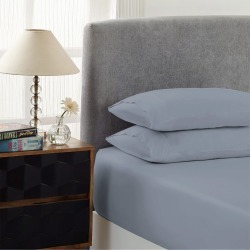 Royal Comfort 1500tc Cotton Rich Fitted Sheet Set 3 Pc - Indigo - Double found on Bargain Bro from Noni B Limited for USD $30.52