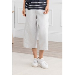 Grace Hill Wide Leg Linen Cargo Pant - Silver - 8 found on Bargain Bro Philippines from crossroads for $14.72