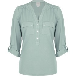 Rivers 3/4 Sleeve Military Style Shirt - Fern - 8 found on Bargain Bro India from Rivers for $21.34