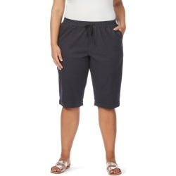 Beme Linen Blend Short - Navy - 14 found on Bargain Bro from Noni B Limited for USD $11.74