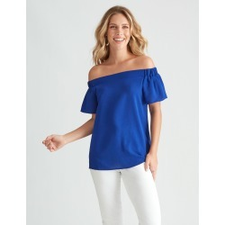 Sslv Off Sh Top - Cobalt - 12 found on Bargain Bro Philippines from Rockmans for $11.07