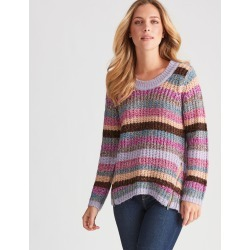 Rockmans Long Sleeve Multi Knit - Purple Mix - XS found on Bargain Bro from Noni B Limited for USD $19.89