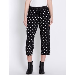 Rockmans Crop Contrast Spot Eyelet Pant - Black/white found on Bargain Bro India from crossroads for $13.68