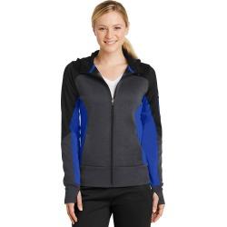Sport-tek Ladies Tech Fleece Colorblock Full-zip Hooded Jacket - Black/ Graphite Heather/ True Royal - Black/ Graphite Heather/ True Royal - S found on Bargain Bro Philippines from Rockmans for $67.41