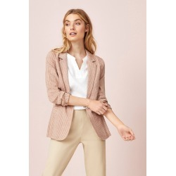 Capture Herringbone Linen Blend Jacket - Antique White - 18 found on Bargain Bro from Katies for USD $21.90