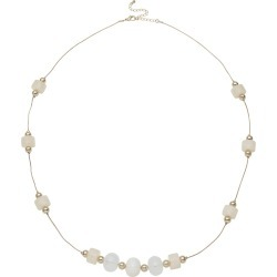 W.lane Shining Bead Necklace - White found on Bargain Bro India from crossroads for $12.54