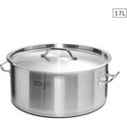Soga Ss Top Grade Thick Stock Pot 17l 18/10 - Stainless Steel found on Bargain Bro India from crossroads for $60.65