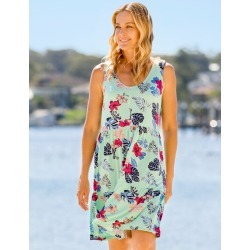 Rivers Sleeveless Button Tiered Jersey Dress - Tropical Orchid - 8 found on Bargain Bro from Noni B Limited for USD $13.53