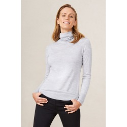 Capture Merino Roll Neck Sweater - Silver Marl - XL found on Bargain Bro Philippines from Rivers for $21.39