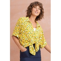 Capture Short Sleeve Shirt - Yellow Floral - 10 found on Bargain Bro Philippines from Rivers for $25.82