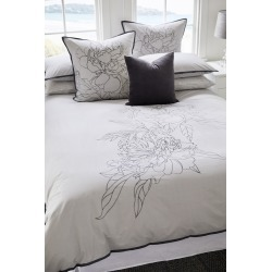 Peony Duvet Cover Set - Ash - Double found on Bargain Bro India from Rockmans for $71.69