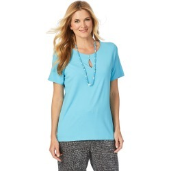 W.lane Casual Keyhole Top - Turquoise - XS found on Bargain Bro from Noni B Limited for USD $4.40