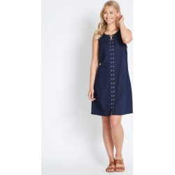Rockmans Eyelet Shift Dress - True Navy - 14 found on Bargain Bro India from W Lane for $15.55