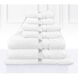 Kingtex 7 Piece Bath Towel Set - White - One found on Bargain Bro from Noni B Limited for USD $22.19