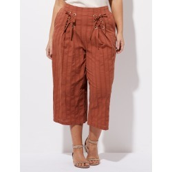 Crossroads Eyelet Pleat Culotte - Brick - 10 found on Bargain Bro Philippines from Rockmans for $17.75