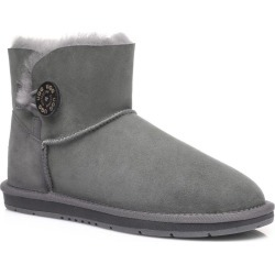 Ugg Boots Mini Button - Grey - AU W5/ M3 found on Bargain Bro from Katies for USD $73.88